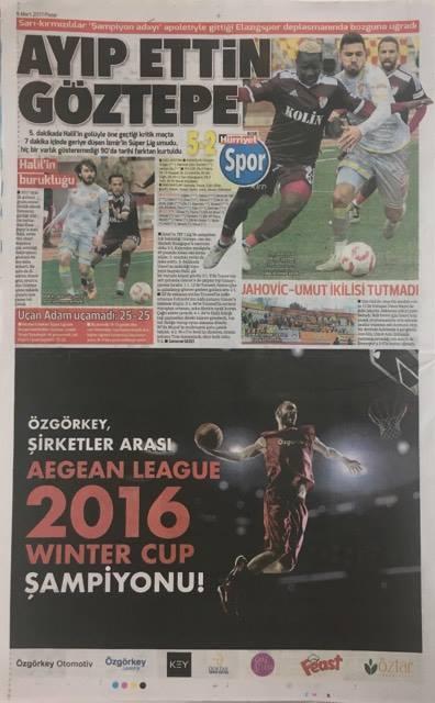 2016 WINTER CUP ŞAMPİYONU ÖZGÖRKEY BASIN HABERLERİ / 2